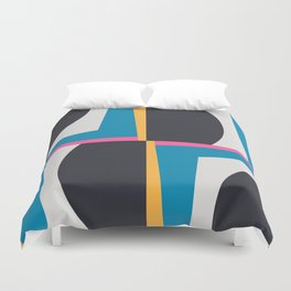 Modern Geometric 65 Blue Duvet Cover