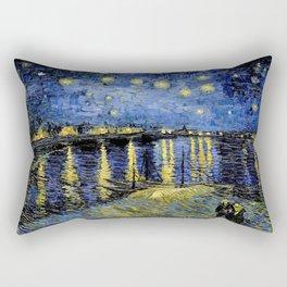 Van Gogh Starry Night Over the Rhône Rectangular Pillow