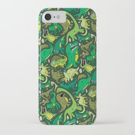 Dino Pattern iPhone Case