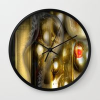 alchemy Wall Clocks featuring Alchemy by John Hansen