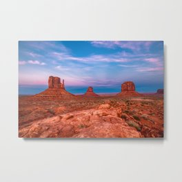 Westward Dreams - Sunset in Monument Valley Metal Print