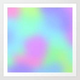 Soft Gradient Design (Pastel Pink, Purple, Blue, and Green) Art Print