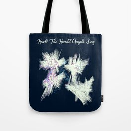 Hark! The Herald Angels Sing Christmas Abstract Tote Bag