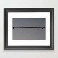 Light String Framed Art Print