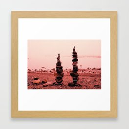 Bar Harbor Cairn (2) Framed Art Print
