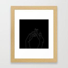 Hand in minimal line Framed Art Print