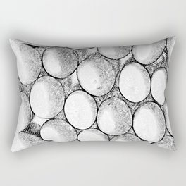Two Dozen Eggs To Be Eggs Act Rectangular Pillow