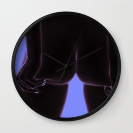 Intimita Nuda | The Nude Buttocks Squeeze | Purple Blue Wall Clock