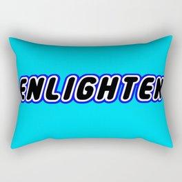 ENLIGHTEN in Brick Font Logo Design [Alternate Colors] by Chillee Wilson Rectangular Pillow