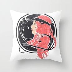 Art Nouveau Goddess Throw Pillow