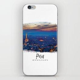 Paris City of lights iPhone Skin