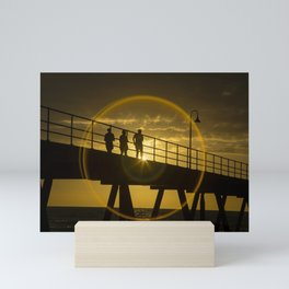 Sunset at Gleneig jetty Mini Art Print