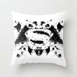 Rorschach Heroes Throw Pillow