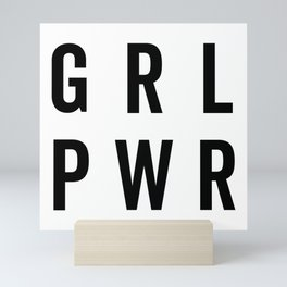 GRL PWR / Girl Power Quote Mini Art Print