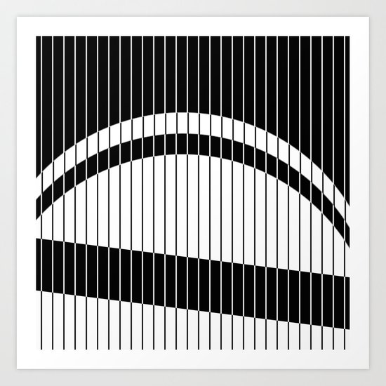 Colour Blind (Abstract, minimalistic black and white) Art Print