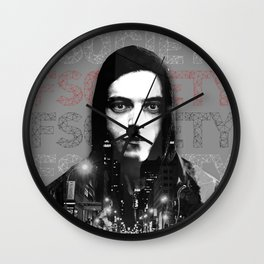 Mr. Robot Double Exposure Wall Clock