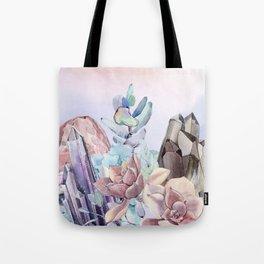 Gemstone Flower Tote Bag