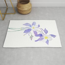 purple columbine flower Rug