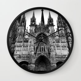 Rouen Cathedral #2 Wall Clock