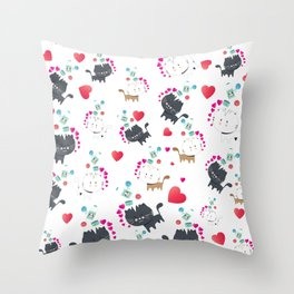 Itty Bitty Kitty: In Honor of Our Rescue Cat Throw Pillow
