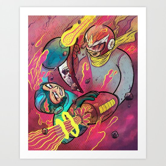 Mega Man Tribute Art Print