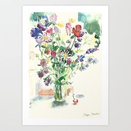 Flowers Цветы Fiori פרחים Art Print