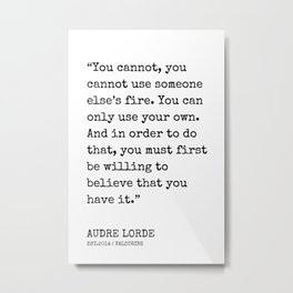 15  | Audre Lorde Quotes | 200607 | Metal Print