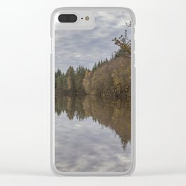 Autumn Lake Reflections Clear iPhone Case