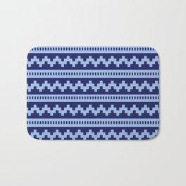 Pixel Blue Side Scroller Bath Mat