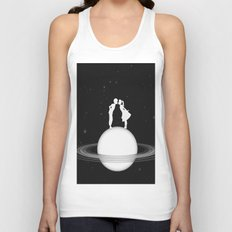 Love on Saturn Unisex Tank Top