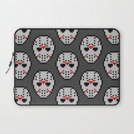 Knitted Jason hockey mask pattern Laptop Sleeve