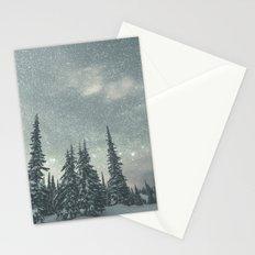 Big White Stars VI Stationery Cards