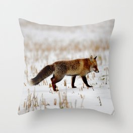 Red Fox in the Snow Throw Pillow