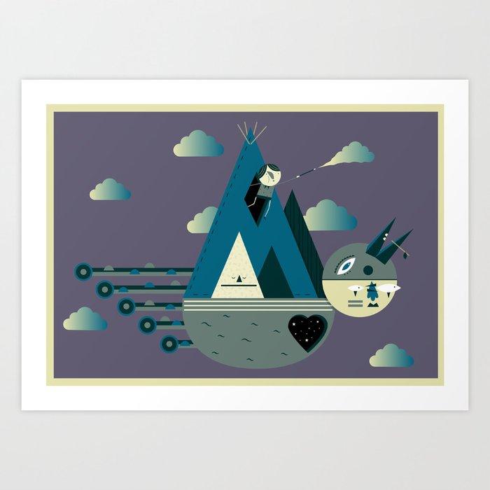 Cloud Maker Art Print