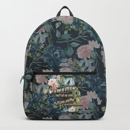 We Lay Down Our Arms Backpack