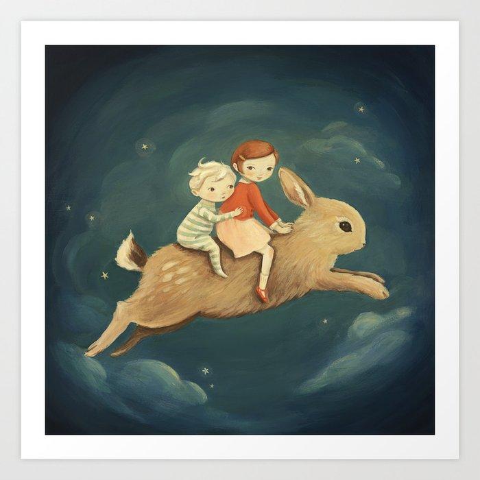Bunny Kids by Emily Winfield Martin Kunstdrucke