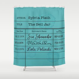 SYLViA PLATH (1963) Shower Curtain
