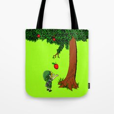 Link Zelda with an apple tree iPhone 4 4s 5 5c, ipod, ipad, pillow case tshirt and mugs Tote Bag