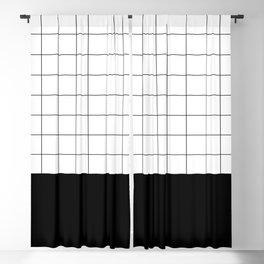 Scandi Grid Sq B Blackout Curtain