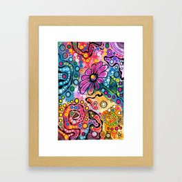"""Tie-Dye Wonderland"" Framed Art Print"