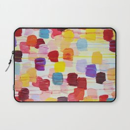 DOTTY - Stunning Bright Bold Rainbow Colorful Square Polka Dots Lovely Original Abstract Painting Laptop Sleeve