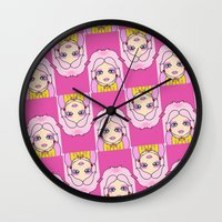 jem Wall Clocks featuring jem by guizmo04