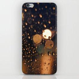 rain bokeh iPhone Skin