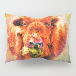 Jazzy Buffalo Colorful Animal Art by Jai Johnson Pillow Sham