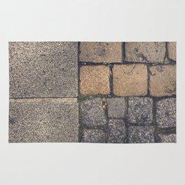 Triple cobblestones texture Rug