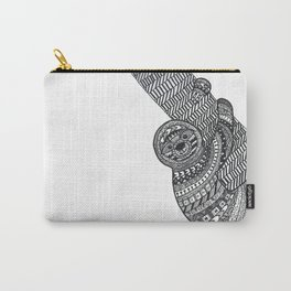 Zentangle sloth Carry-All Pouch
