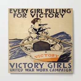 Vintage poster - Victory Girls Metal Print