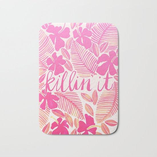 Killin' It – Pink Ombré Bath Mat