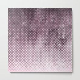 edgy halftone pattern // pink Metal Print