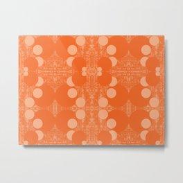 Orange Rounds Metal Print